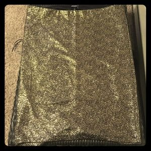 Plus Size Metallic Skirts
